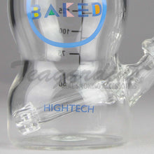 "Load image into Gallery viewer, High Tech Glass - Baked Baby Bottle - Showerhead Downstem Dab Rig - White - 4mm Thickess / 6"" Height"