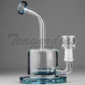 "High Tech Glass - C300 D.I. Bubbler - Inline Percolator Diffuser Dab Rig - Blue - 5mm Thickness / 7"" Height"