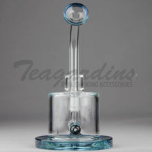 "Load image into Gallery viewer, High Tech Glass - C300 D.I. Bubbler - Inline Percolator Diffuser Dab Rig - Blue - 5mm Thickness / 7"" Height"
