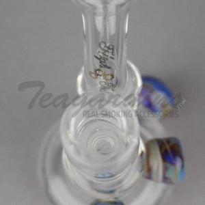 "High Tech Glass - D.I. Micro Bubbler - Diffuser Downstem Dab Rig - Multi Color - 5mm Thickness / 4"" Height"