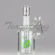Hitman Glass - Phase Two Micro - Showerhead Downstem Sidecar Dab Rig - Green Decal - 4mm Thickness / 5