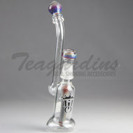 Hit it Once Glass - Mini Bubbler - Diffuser Downstem Dab Rig - Multi-Color - 4mm Thickness / 10.5