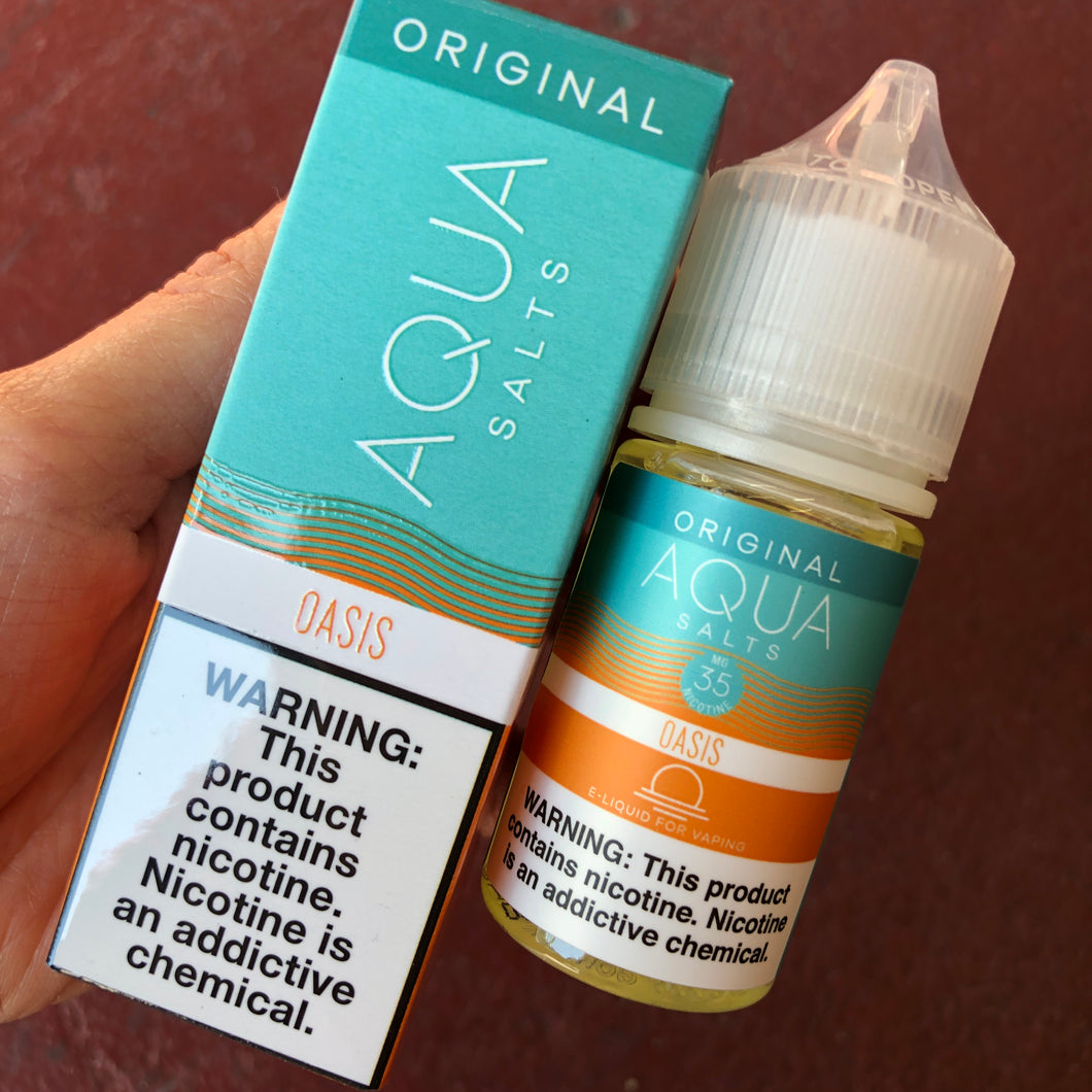 Aqua Salts - Vape Juice Nic Salt Nicotine Original Oasis For Sale