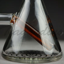 "Load image into Gallery viewer, Illadelph Glass - Stemless Beaker Water Pipe - Amber - 5mm Thickness / 10"" Height"