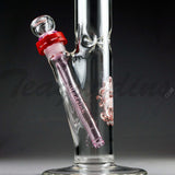 Illadelph Glass - Medium Straight Water Pipe White / Pink