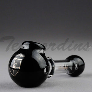 Illadelph Glass - Multi Holed Spoon Hand Pipe Black