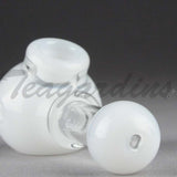 Illadelph Glass - Multi Holed Spoon Hand Pipe White
