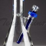 "Illadelph Glass - Short Beaker Water Pipe - Blue - 5mm Thickness / 19"" Height"