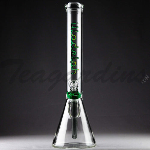 Illadelph Glass - Medium Showerhead Diffuser Downstem Beaker Water Pipe - Green Camo Decal - 5mm Thickness / 19