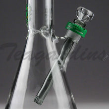 "Load image into Gallery viewer, Illadelph Glass - Medium Beaker Water Pipe - Green Camo Decal - 5mm Thickness / 19"" Height"