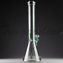 "Load image into Gallery viewer, Illadelph Glass - Diffuser Downstem Medium Beaker Water Pipe - Green Camo Decal - 5mm Thickness / 19"" Height"