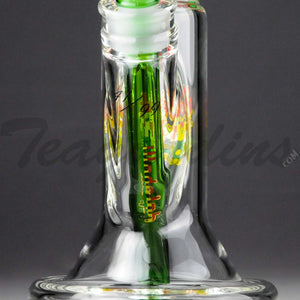 "Illadelph Glass - Limited Edition Space Monkey - Double Chamber Coil Percolator Showerhead Downstem Straight Water Pipe - Rasta - 5mm Thickness / 17"" HeightIlladelph Glass - Limited Edition Space Monkey - Double Chamber Coil Percolator Showerhead Downstem Straight Water Pipe - Rasta - 5mm Thickness / 17"" Height"