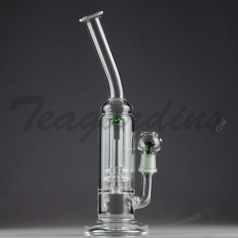 Teagardin's Glass - Stemless Water Pipe with Double Showercap Percolator