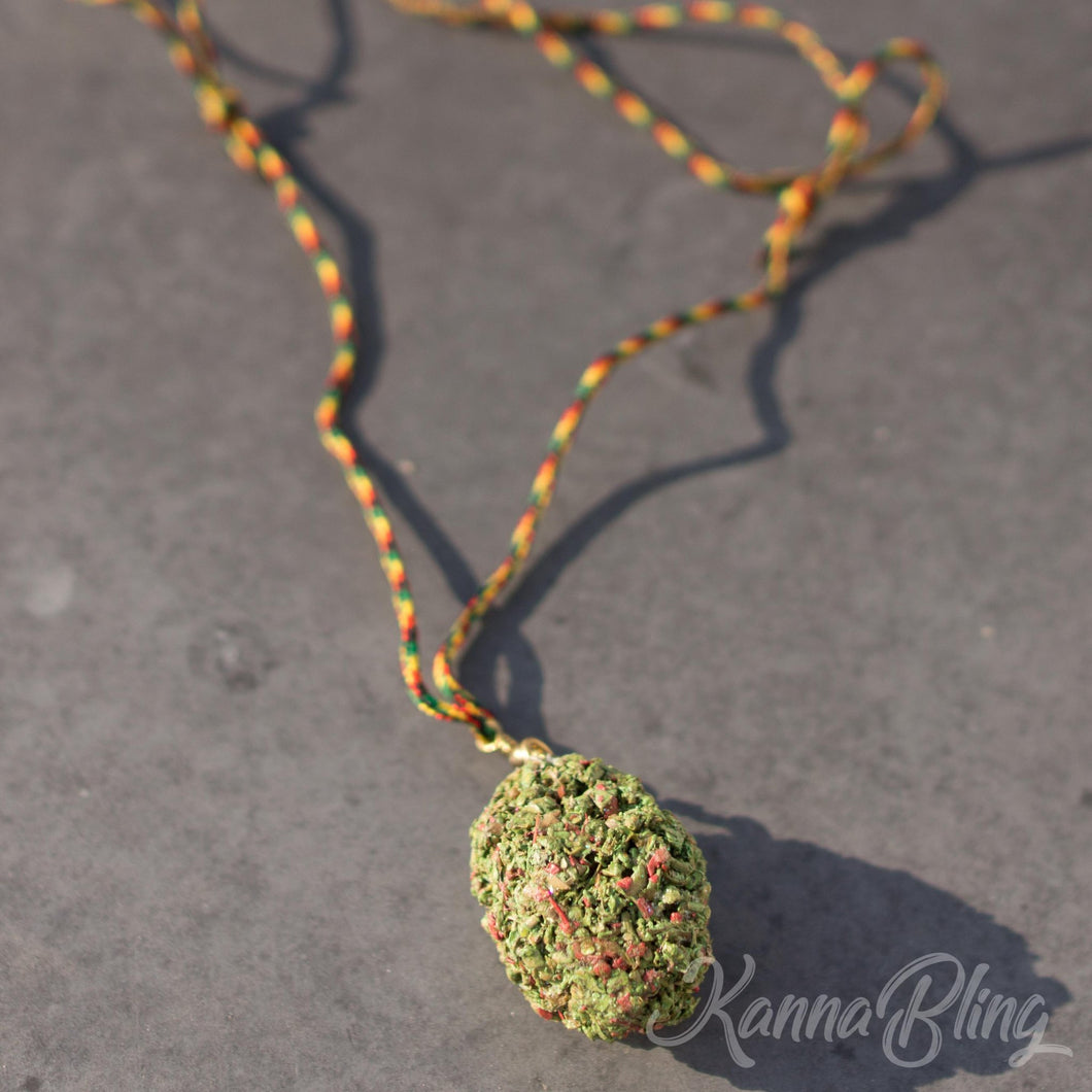 KannaBling - Adjustable Rope Necklace (Red)