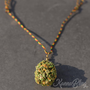 KannaBling - Adjustable Rope Necklace Green