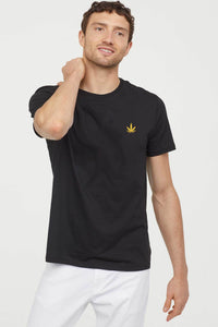 KannaBling Weed Leaf Chest Plate T-Shirt
