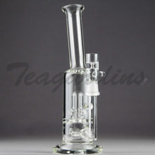 "Load image into Gallery viewer, Teagardins Glass -  D.I. Bubbler - Inline Diffuser Showerhead Percolator Straight Water Pipe - 5mm Thickness / 9"" HeightTeagardins Glass -  D.I. Bubbler - Inline Diffuser Showerhead Percolator Straight Water Pipe - 5mm Thickness / 9"" Height"