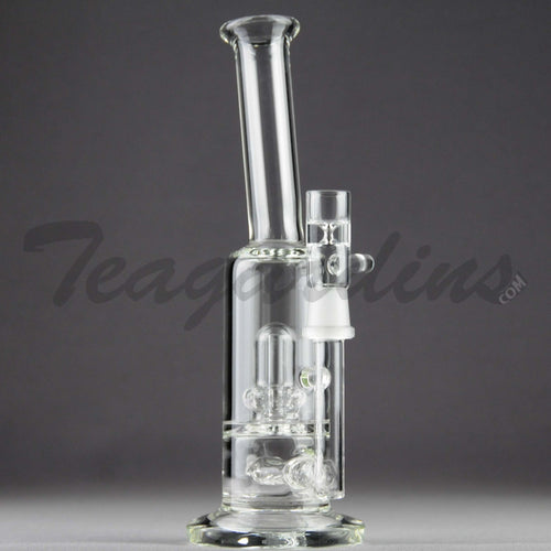 Teagardins Glass -  D.I. Bubbler - Inline Diffuser Showerhead Percolator Straight Water Pipe - 5mm Thickness / 9