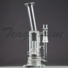 "Load image into Gallery viewer, Teagardins Glass -  D.I. Bubbler - Inline Diffuser Showerhead Percolator Straight Water Pipe - 5mm Thickness / 9"" Height"