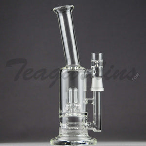"Teagardins Glass -  D.I. Bubbler - Inline Diffuser Showerhead Percolator Straight Water Pipe - 5mm Thickness / 9"" Height"
