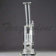 "Load image into Gallery viewer, Teagardin's Glass - D.I. Inline Bubbler Straight Water Pipe - 4mm Thickness / 9"" Height Teagardins Glass -  D.I. Bubbler - Inline Diffuser Showerhead Percolator Straight Water Pipe - 5mm Thickness / 9"" HeightTeagardins Glass -  D.I. Bubbler - Inline Diffuser Showerhead Percolator Straight Water Pipe - 5mm Thickness / 9"" Height"