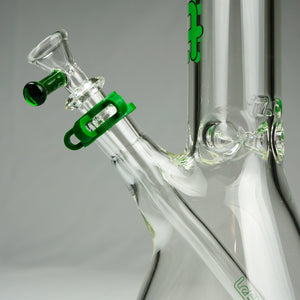 "Left Coast Glass - Beaker Water Pipe - 7mm Thickness / 18"" Height"