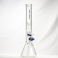 Left Coast Glass - Mini Disc Double Chamber Beaker Water Pipe - 7mm Thickness / 18