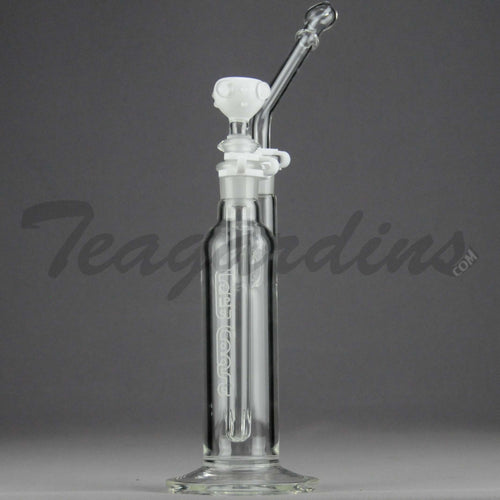 Left Coast Glass - Removable Diffuser Downstem Straight Dab Rig - White - 5mm Thickness / 6