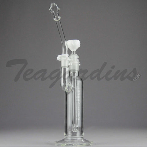 "Left Coast Glass - Removable Diffuser Downstem Straight Oil Rig - White - 5mm Thickness / 6"" Height"