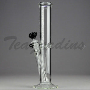 "Left Coast Glass - Diffuser Downstem Straight Water Pipe - Black Decal - 5mm Thickness / 12.5"" Height"