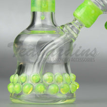 "Load image into Gallery viewer, Lion Glass - Mini Tube - Fixed Diffuser Downstem Dab Rig - Green - 5mm Thickness / 7"" Height"