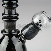 "Load image into Gallery viewer, Lion Glass - Fixed Diffuser Downstem Dab Rig - Black - 5mm Thickness / 5.5"" Height"
