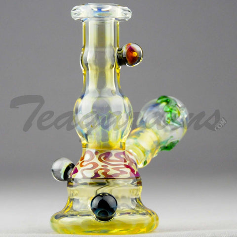 "Lion Glass - Fixed Diffuser Downstem Oil Rig - Yellow - 5mm Thickness / 5"" Height"