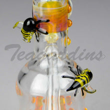"Load image into Gallery viewer, Lion Glass - Honey Bee's Mini Tube - Diffuser Downstem Dab Rig - Yellow - 5mm Thickness / 7"" Height"