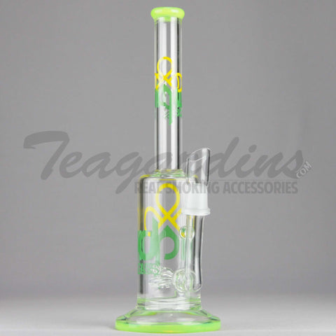 "Liquid Glass - Stemless Coil Percolator Dab Rig - Green - 5mm / 12"" Height"