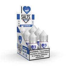 Load image into Gallery viewer, Mad Hatter Juice - Salt E-liquid I Love Salts Blue Raspberry 30ml 6 Count Box for sale