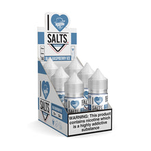 Load image into Gallery viewer, Mad Hatter Juice - Salt E-liquid I Love Salts Blue Raspberry Ice 30ml 6 Count Box for sale