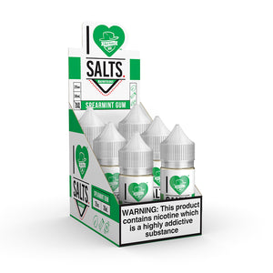 Mad Hatter Juice - Salt E-liquid I Love Salts Spearmint Gum 30ml 6 Count Box for sale