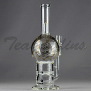 Mav Glass - Stemless Double Honeycomb Percolator D.I. Water Pipe