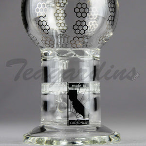 Mav Glass - Stemless Water Pipe Dual HD Turbine Percolator