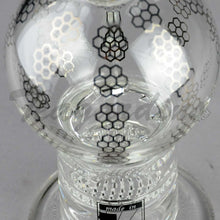 "Load image into Gallery viewer, Mav Glass - Double Honeycomb Percolator Turbine Percolator Stemless Diffuser Dab Rig - Chrome Decal - 5mm Thickness / 10"" Height"