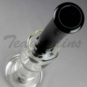 Mav Glass - Stemless Waterpipe With Honey Comb Disc Percolator Black