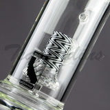 Mav Glass - Stemless Waterpipe With Showrehead to UFO to UFO Percolators Triple Chamber