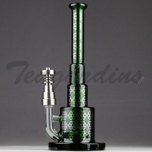 Best Price Maverick Glass - Green Pyramid Bubbler With HD Percolator and Domeless Titanium Nail