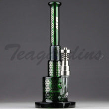 Load image into Gallery viewer, Maverick Glass - Green Pyramid Bubbler With HD Percolator and Domeless Titanium Nail