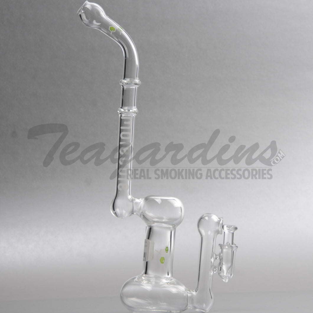 Molecule Glass - Belly Button Bubbler - Stemless Dab Rig - Etched Decal - 4mm Thickness / 12