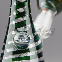 "Load image into Gallery viewer, NERV Glass - Micro Beaker - Downstem Diffuser Dab Rig - Green - 4mm Thickness / 4"" Height"