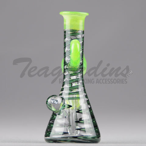 "NERV Glass - Micro Pendant Beaker - Diffuser Downstem Oil Rig - Green - 4mm Wall Thickness / 4.5"" Height"