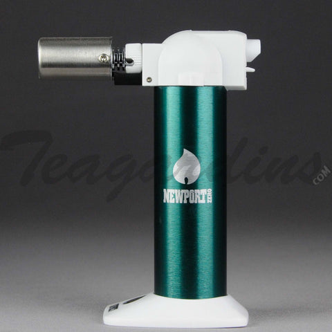 Newport Torch - Adjustable Butane Green Torch Color Series 6""