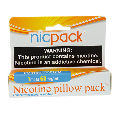 Nic Pack - Nicotine Pillow Pack - 1ml - 60mg